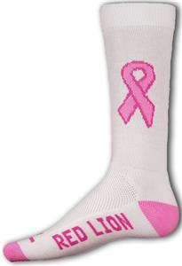 Cancer Awareness Pink Ribbon Crew Socks (1-Pair)