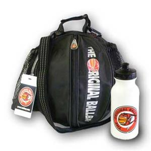 Original Black Basketball Ballbag & Water bottle