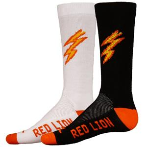 Red Lion Charge Lightning Bolt Crew Socks