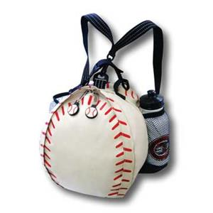 Original White Baseball Backpack with Water bottle