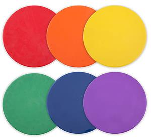 "Assorted Color 10"" Poly Spot Marker (Set of 6)"