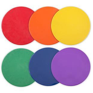 "Assorted Color 10"" Poly Spot Marker (Set of 6)"