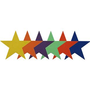 """Champion Sports 9"""" Poly Star Markers Set of 6"""