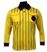 Official Soccer Referee Jerseys- LONG Sleeve-GOLD