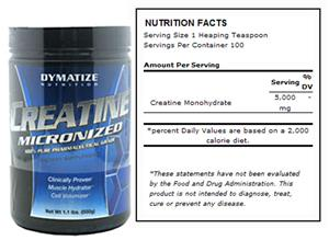 Dymatize Nutrition Micronized Creatine