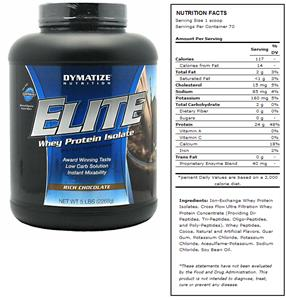 DYMATIZE Elite Rich Chocolate Whey Protein - 5 lbs
