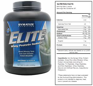 DYMATIZE Elite Vanilla Whey Protein - 5 lb