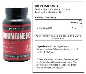 Primaforce Yohimbine HCl