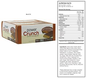 BNRG Power Crunch Peanut Butter Fudge Protein Bars
