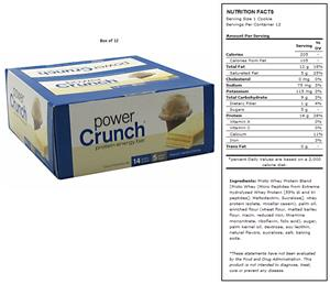 BNRG Power Crunch French Vanilla Creme Protein Bar