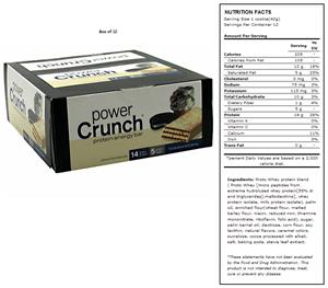 BNRG Power Crunch Cookies &amp; Creme Protein Bars