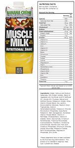 CytoSport Muscle Milk Banana Creme Protein Shakes