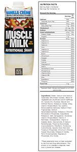 CytoSport Muscle Milk Vanilla Creme Protein Shakes