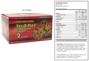 Chef Jay's Tri-O-Plex Protein Supplement Cookies