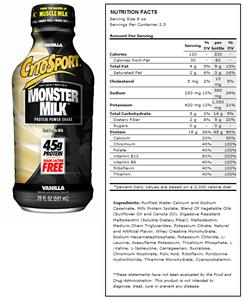 CytoSport Monster Milk Vanilla Protein Shakes
