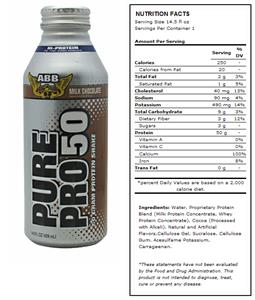 ABB Pure Pro 50 Milk Chocolate Protein Shakes