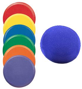 Champion Sports Rounded Foam Disc Set of 6 Colors
