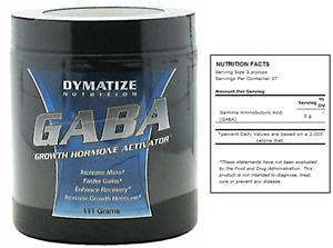 DYMATIZE GABA Body Building Dietary Supplement