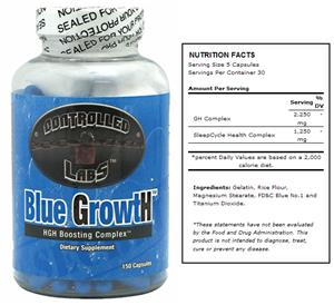 Controlled Labs Blue Growth Dietary Supplement