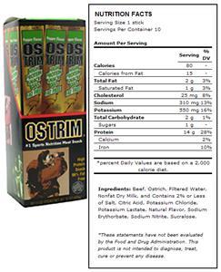 Ostrim Beef & Ostrich Snack - Pepper