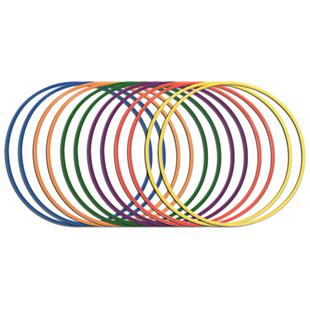 Champion Sports Hula Hoops Pack of 12 - 3 Sizes