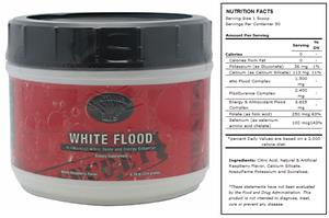White Flood Raspberry Pre-Workout Supplement