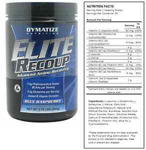 Elite Recoup Raspberry Amino Recovery Supplement