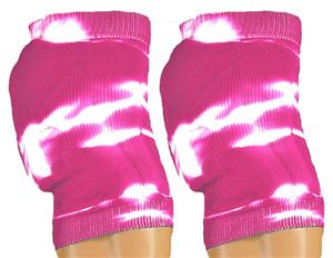 Red Lion Retro Neon Pink Tie Dyed Knee Pad Covers