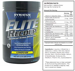 Elite Recoup Lemonade Amino Recovery Supplement
