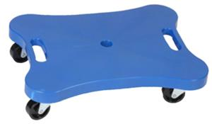 "Champion 12"" x 16"" Blue Contoured Plastic Scooter"