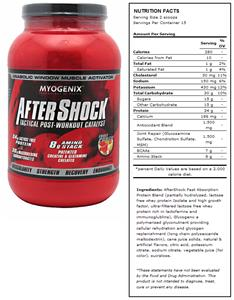 AfterShock Fruit Punch Post-Workout Supplement