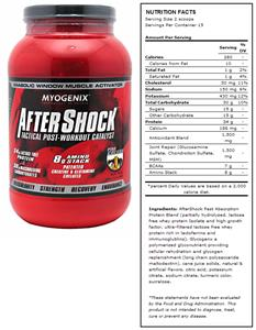 AfterShock Pina Colada Post-Workout Supplement
