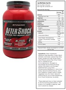 AfterShock Wild Berry Post-Workout Supplement