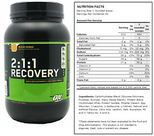 2:1:1 Recovery Mango Post-Workout Supplement