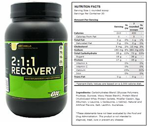 2:1:1 Recovery Vanilla Post-Workout Supplement