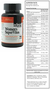 Women's Supervites Vitamin & Mineral Supplement