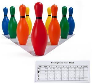 Champion Multi-Color Plastic Bowling Pin Set