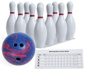 Champion Sports Plastic Bowling Ball & Pin Set
