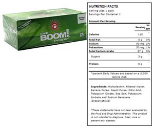 Carb Boom Energy Gel - Banana Peach 24pk