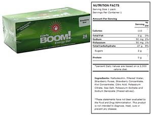 Carb Boom Energy Gel - Strawberry Kiwi 24pk
