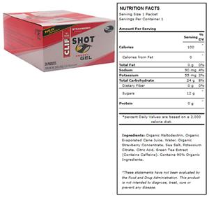Clif Shot Energy Gel - Strawberry