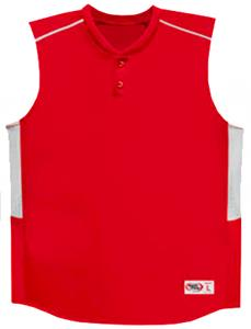 Sleeveless 2-Button Baseball Jerseys-Closeout