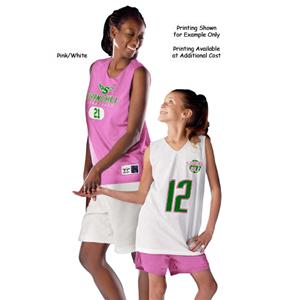 Alleson Women&#39;s Pink Reversible Basketball Jerseys