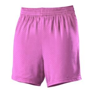 Alleson 565PW Women's Pink Mesh Basketball Shorts