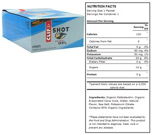 Clif Shot Energy Gel - Vanilla