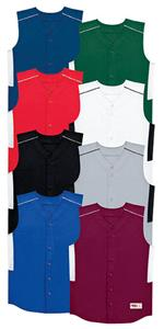 Sleeveless Full Button Baseball Jerseys-Closeout
