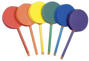 """Champion Badminton 12"""" Foam Paddle Set of 6 Colors"""