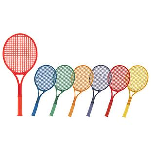 Champion Sports Plastic Tennis Racket-Set 6 Colors