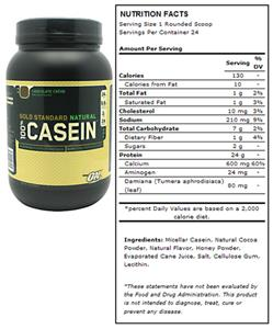Optimum Nutrition Natural Casein - Chocolate Creme