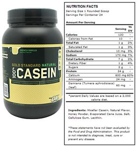 Optimum Nutrition Natural Casein - French Vanilla